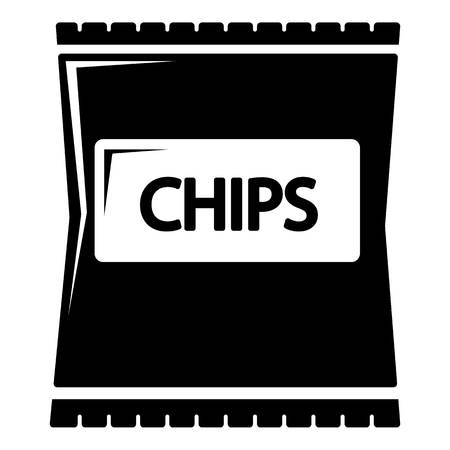crunchy: Chips icon. Simple illustration of chips vector icon for web