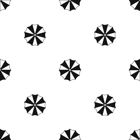 Striped umbrella pattern repeat seamless in black color for any design. Vector geometric illustration