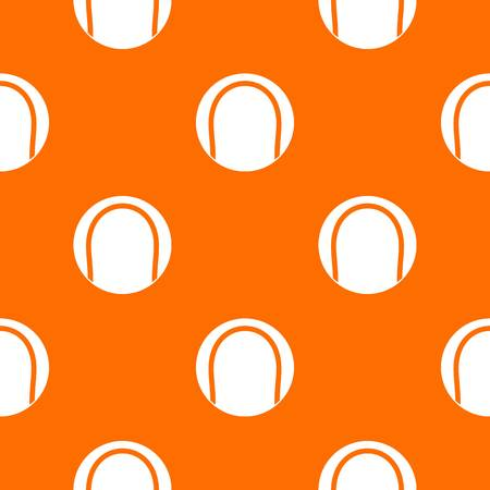 Black and white tennis ball pattern repeat seamless in orange color for any design. Vector geometric illustration Illustration