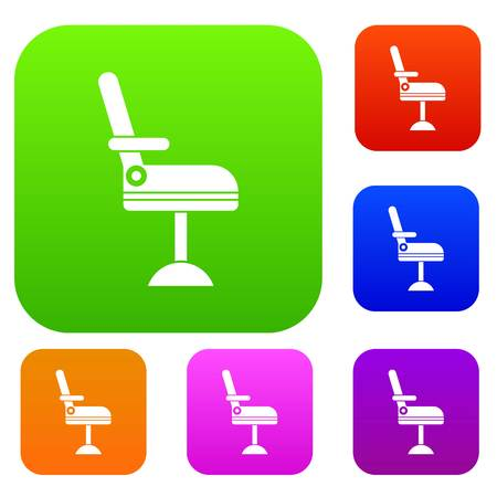 Chair set icon in different colors isolated vector illustration. Premium collection Ilustração