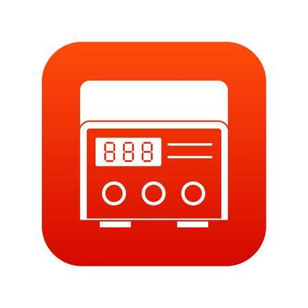 Professional tattoo machine icon digital red 向量圖像