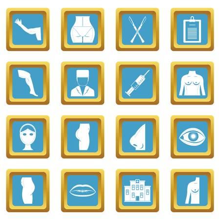 Plastic surgeon icons azure