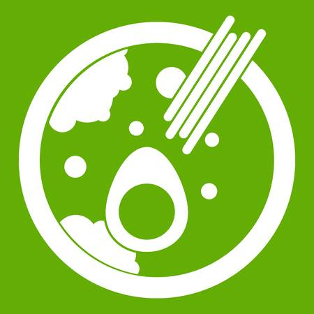 Miso soup icon green