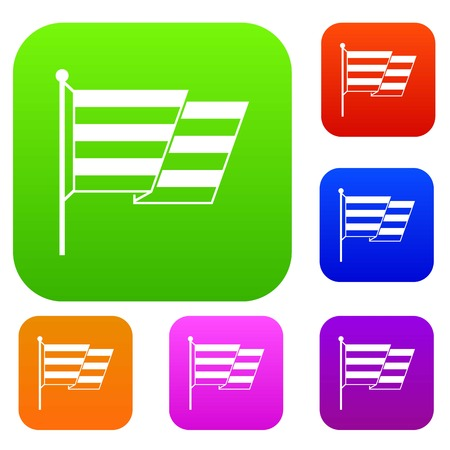 Flag LGBT set icon in different colors isolated vector illustration. Premium collection