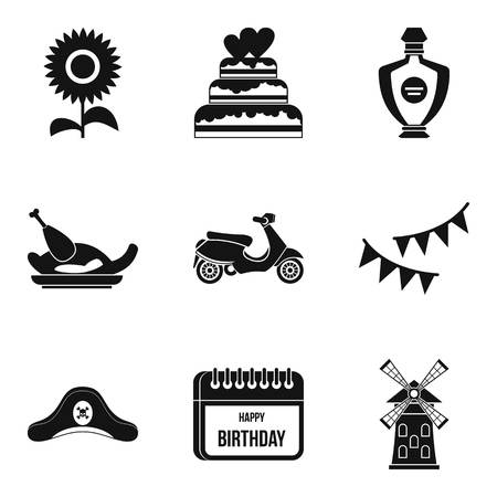 moonshine: Hootch icons set. Simple set of 9 hootch vector icons for web isolated on white background