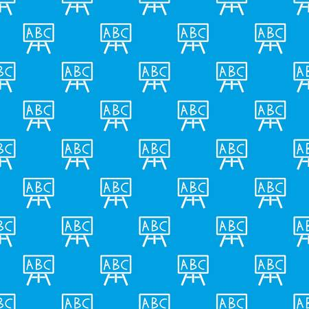Bord met de letters ABC patroon herhaal naadloos in blauwe kleur voor elk ontwerp. Vector geometrische illustratie