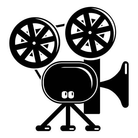 film industry: Video camera icon. Simple illustration of video camera vector icon for web