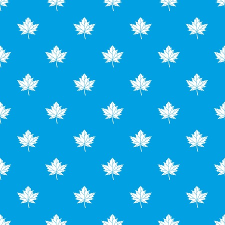 chokeberry: Maple leaf pattern repeat seamless in blue color for any design. Vector geometric illustration Illustration