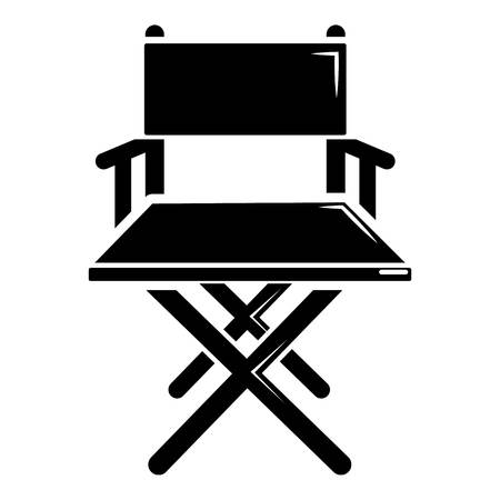 film industry: Director chair icon. Simple illustration of director chair vector icon for web