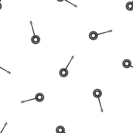 the resonator: Banjo pattern repeat seamless in black color for any design. Vector geometric illustration Illustration
