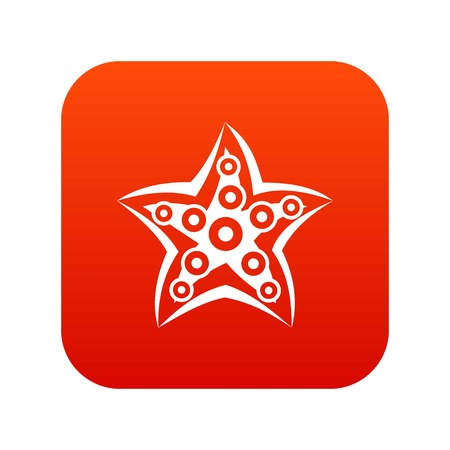 mollusc: Starfish icon digital red