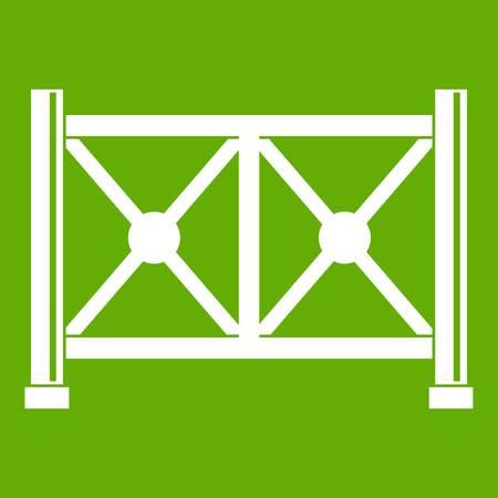 Metal fence icon green Illustration