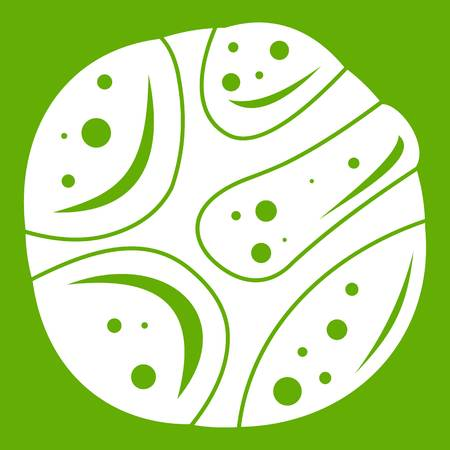 Deserted planet icon white isolated on green background. Vector illustration