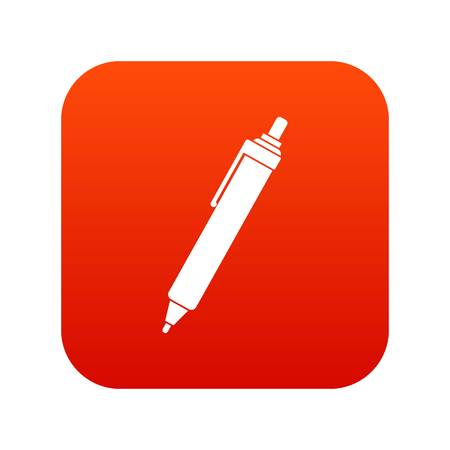 writing instruments: Pen icon digital red