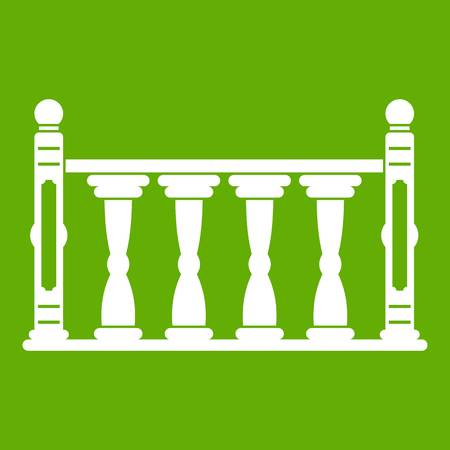 Balustrade icoon groen Stock Illustratie