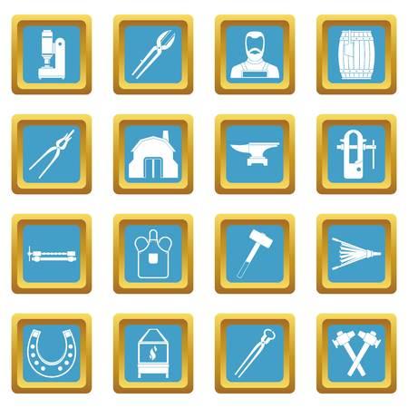 tongs: Blacksmith icons azure