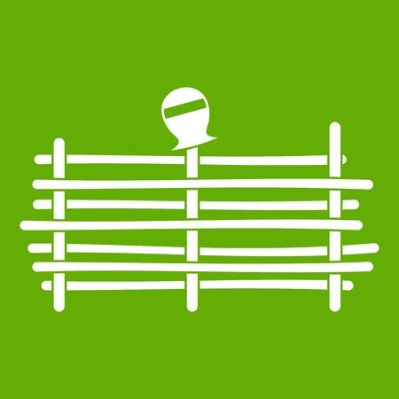 Palisade icon green Illustration