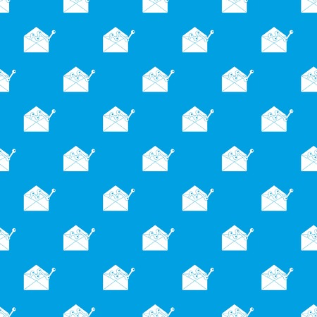 Envelope with graph pattern seamless blue