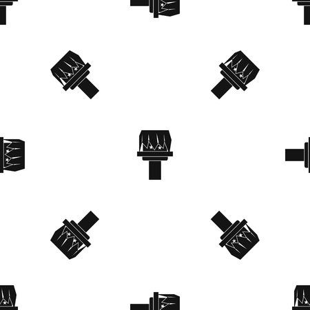 Box magic pattern seamless black Illustration
