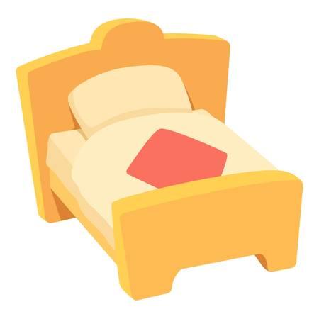 duvet: Bed icon, cartoon style