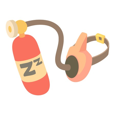 compressed air: Oxygen mask icon. Cartoon illustration of oxygen mask vector icon for web