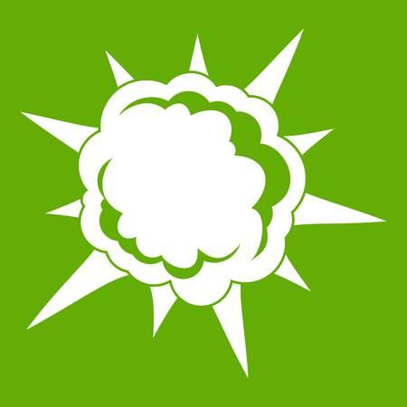 Powerful explosion icon green Illustration