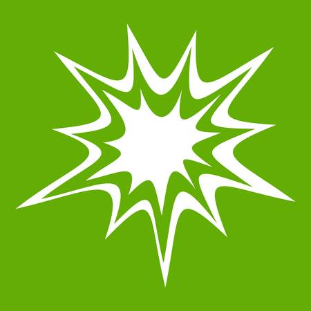 nuclear bomb: Heavy explosion icon green Illustration