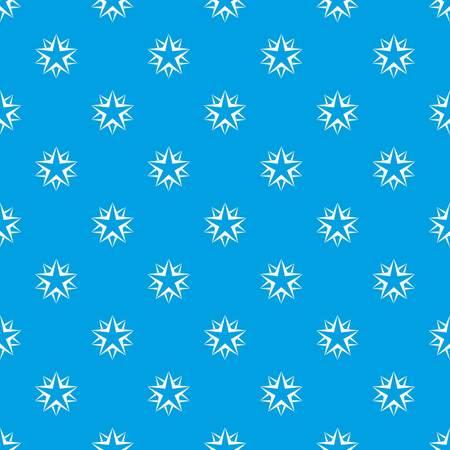 Star pattern seamless blue