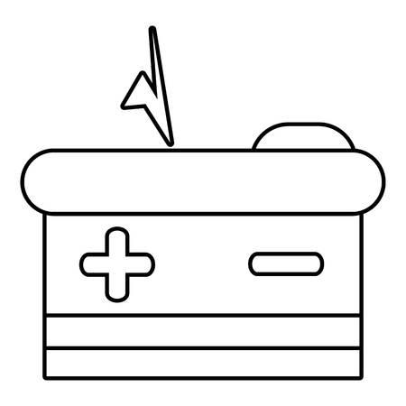Batteriesymbol. Übersichtsdarstellung Der Batterie Vektor-Symbol Für ...