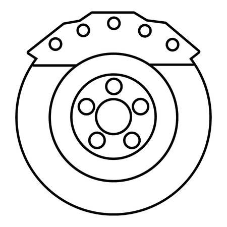 disk break: Brake shoe icon. Outline illustration of brake shoe vector icon for web