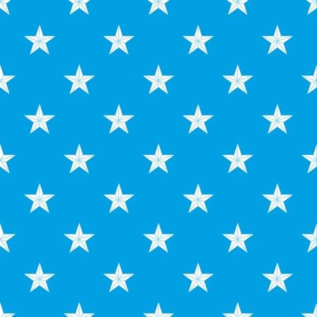 certificate template: Star pattern seamless blue