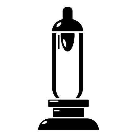 motor car candles: Car candle icon, simple black style