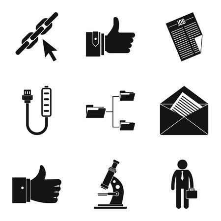 bankroll: Accounting icons set, simple style Illustration