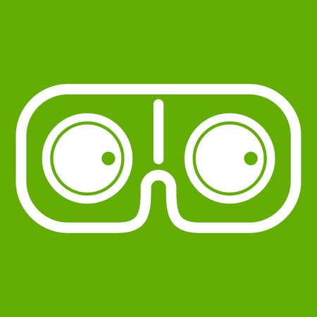Game glasses icon green
