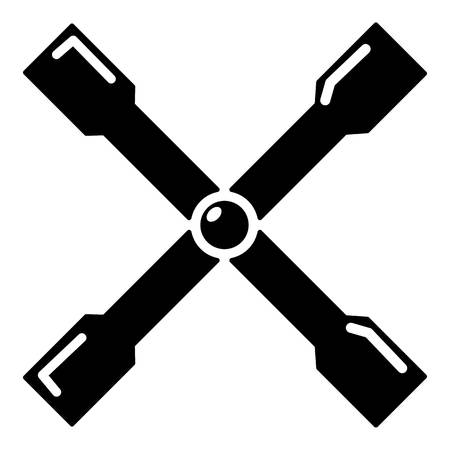 Spanner icon, simple black style
