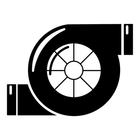 Air filter icon, simple black style Vektoros illusztráció