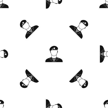 Modern army soldier pattern seamless black Illustration