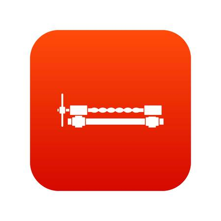 Blacksmiths clamp icon digital red Illustration