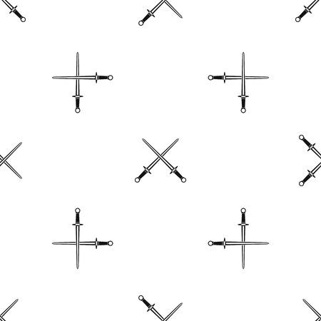 Swords pattern seamless black