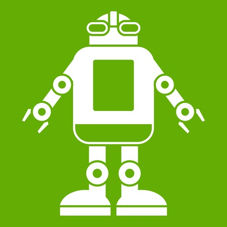 Automation machine robot icon green Illustration