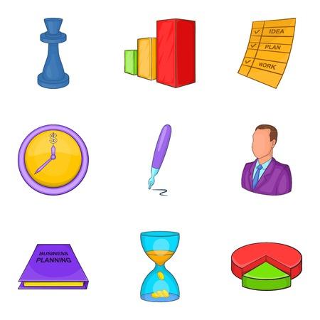 provision: Reckoner icons set, cartoon style