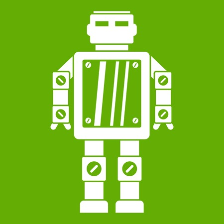 Abstract robot icon green