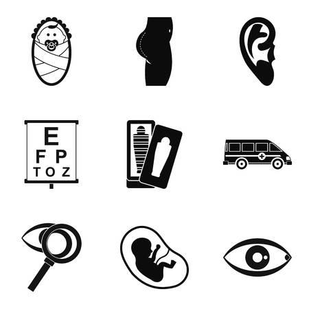 Traineeship icons set, simple style