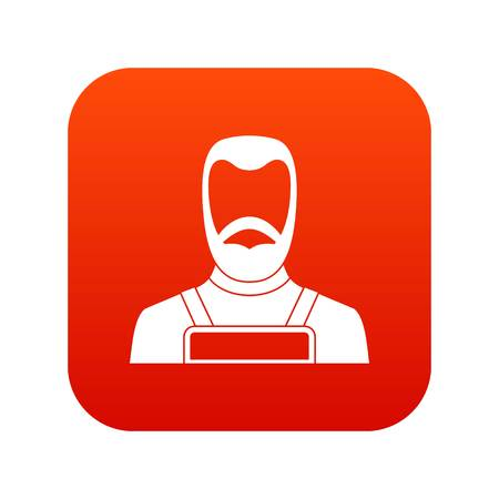 Blacksmith icon digital red