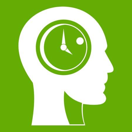 Time management icon green Illustration