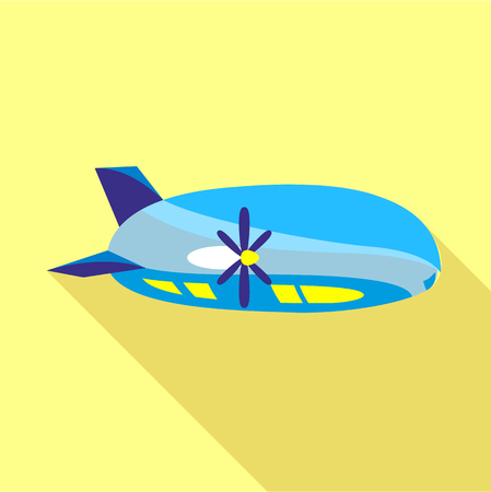 airship: Modern airship icon, flat style