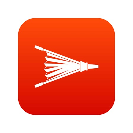 Fire bellows icon digital red Illustration