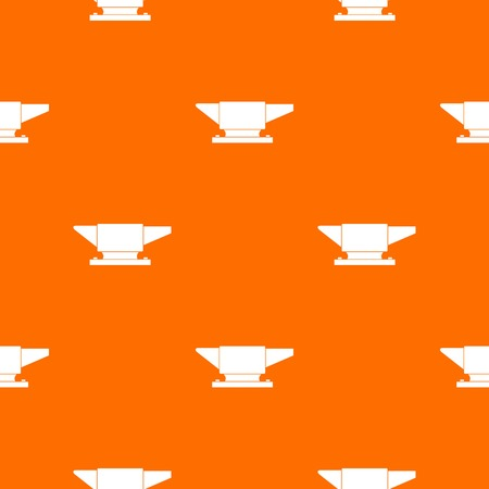 Anvil pattern repeat seamless in orange color for any design. Vector geometric illustration