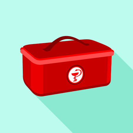 Medical box icon. Flat illustration of medical box vector icon for web Illustration