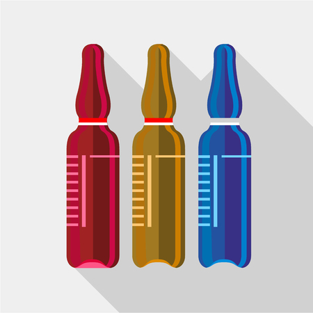 ampoule: Ampoule medical icon. Flat illustration of ampoule medical vector icon for web